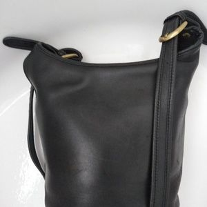 Coach Legacy black leather bucket tote purse